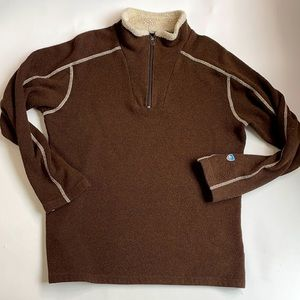 KUHL Brown pullover Fleece Lined